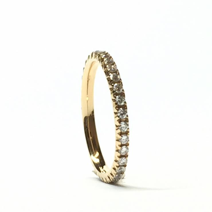 Veretta girodito in oro rosa 18 kt e diamanti 0.45 ct – Colore E