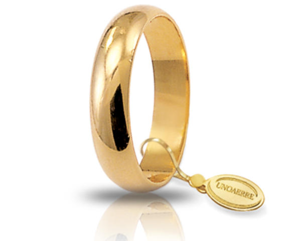 Fede Classica larga 4,5 mm in oro giallo