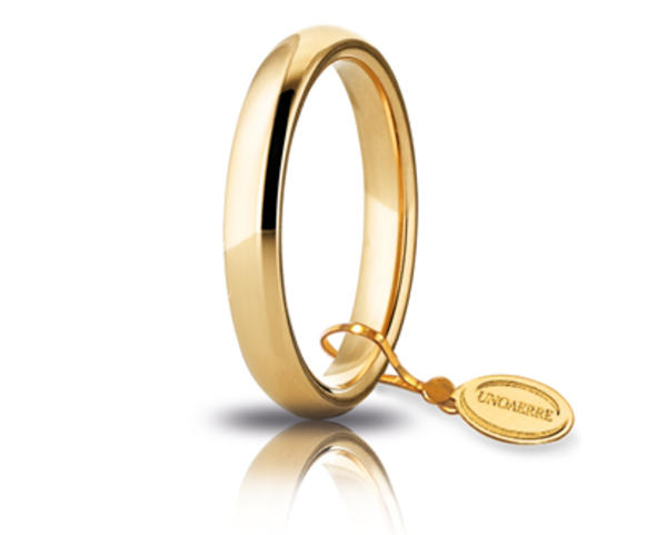 Fede comoda in oro giallo 3.5 mm